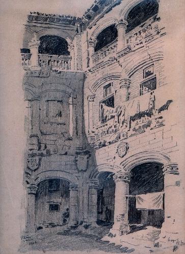 Patio del palacio de Bendaña (Vitoria)