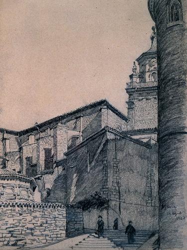 Catedral de Santa María desde el Cantón del Seminario (Vitoria)