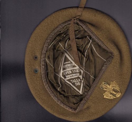 Gorra de infantería