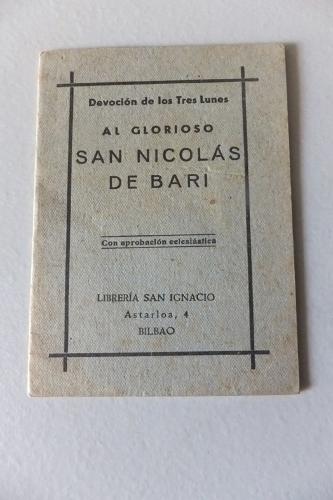 """""""Devoción de los Tres Lunes al glorioso San Nicolás de Bari"""""""