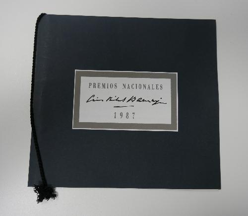 "Invitación "" PREMIOS NACIONALES Cristóbal Balenciaga 1987"""
