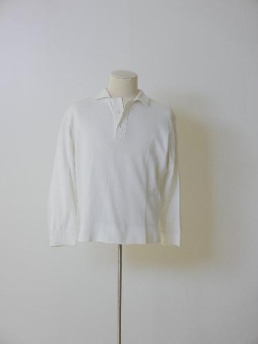 Polo en jersey de algodón blanco.