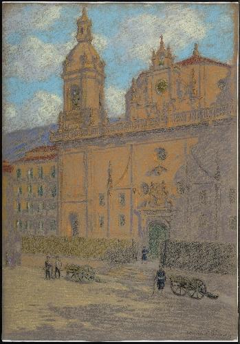 Iglesia de San Nicolás y soldados