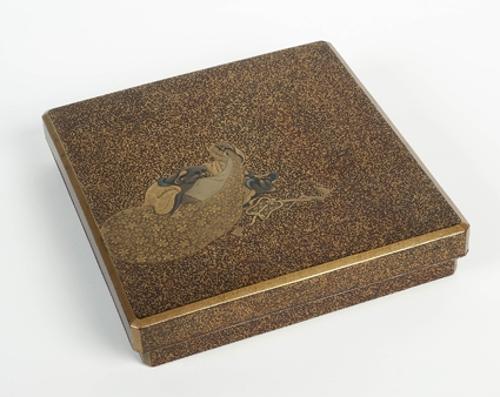 Caja para escritura con la imagen del dios Hotei