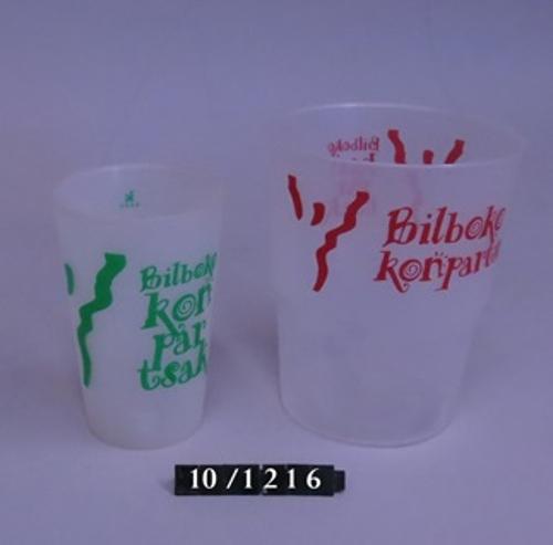 """Vasos de """"Bilboko Konpartsak"""""""