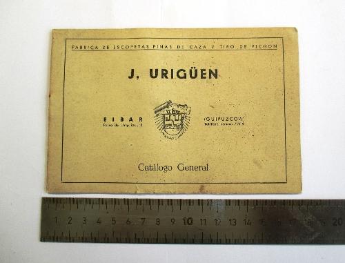 """Catálogo de escopetas de la marca """"El Reno"""", José Urigüen."""