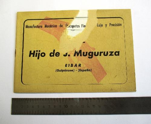 """Catálogo de escopetas de la marca """"El Aguila"""" Hijo de J. Muguruza."""
