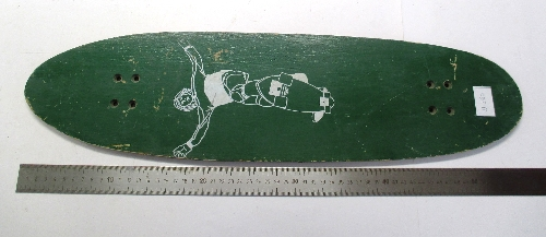 Tabla de monopatín verde