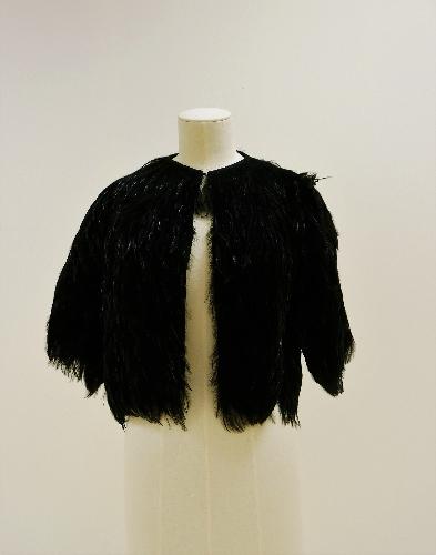 Bolero de plumas negras