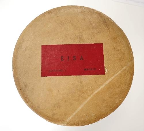 Sombrerera  redonda EISA  de casquete de raso negro