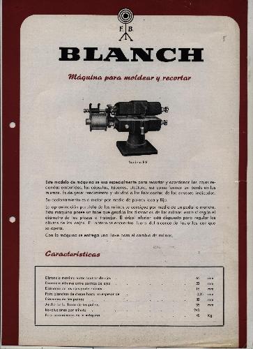 "MÁQUINA RECORTADORA ""BLANCH"""