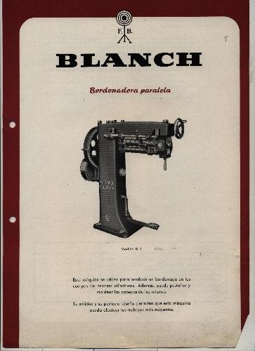 """BORDONADORA PARALELA """"BLANCH"""""""