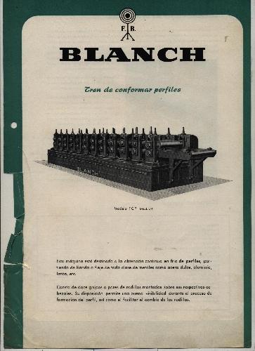 """TREN DE CONFORMAR PERFILES """"BLANCH"""""""