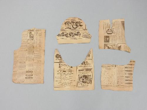 Patrón de Papel de periódico. Cuerpo