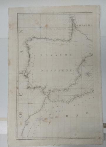 Carta de la costa española, portuguesa y norte de Africa