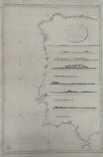 Carte des Cotes d´Espagne et de Portugal, depuis le Cap de Pinas jusqu'au Detroit de Gibraltar