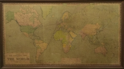 Philips' New Commercial Map of the World on Mercators Projection