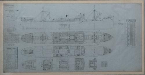 Plano general y escala de cargas de los buques 'Mar Cantábrico' y 'Mar Negro'