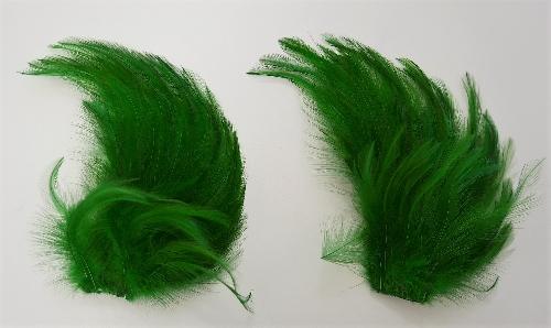 2 penachos de plumas verdes con papel ZT 621-1