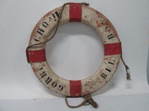 Aro salvavidas del barco Gorricho II