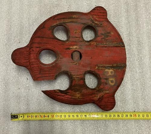 Molde de madera de armazón polea puntal 8mm