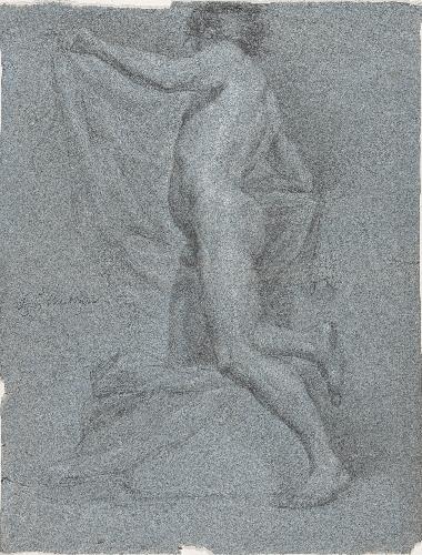 Hombre desnudo. Academia