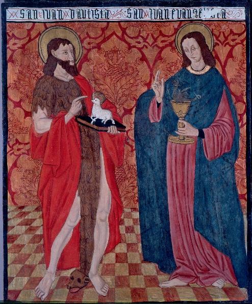 Retablo de Tortura: San Juan Bautista y San Juan Evangelista