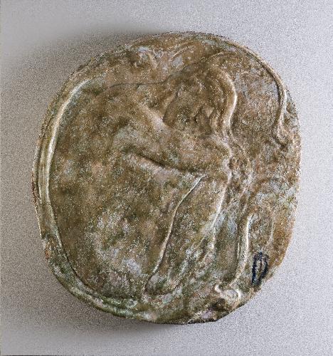 Gran medallón con figura o El sueño de Eva