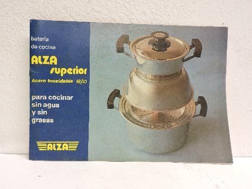 Catálogo de batería de cocina de la marca ALZA