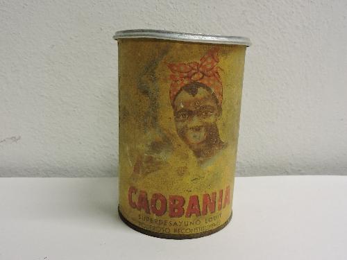 Bote de cacao CAOBANIA producido por LOUIT